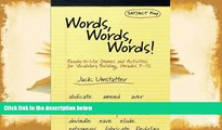 PDF  Words, Words, Words: Ready-to-Use Games and Activities for Vocabulary Building, Grades 7-12