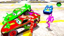 IRONMANS COLORS & Lightning McQueen Cars COLORS EPIC PARTY & Nursery Rhymes Children Songs