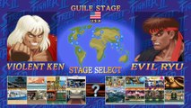 Ultra Street Fighter II The Final Challengers Nintendo Switch Gameplay - Evil Ryu vs Violent Ken