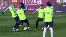 FC Barcelona training session: Recovery session with an eye on the Copa del Rey