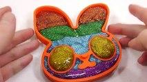 DIY How To Make Colors Glitter Slime Rabbit Learn Colors Glitter Slime Clay Icecream