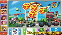 Paw Patrol, Blaze And The Monster Cars Fire Fighting- Sticker Games-paw patrol games