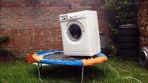 !Machine à laver + briques + trampoline = gros moment de délire!
