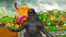 Godzilla Cartoons Rain Rain Go Away Children Nursery Rhymes   Godzilla Nursery Rhymes For Babies