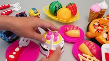 Learn Fruits English Names Toy Velcro Cutting Pizza Ice cream Play Doh Surprise Eggs Toys YouTube