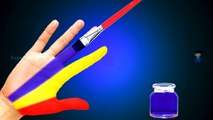 Body Painting Learning Colors Video for Children | Paint Colors Finger Learn Colours