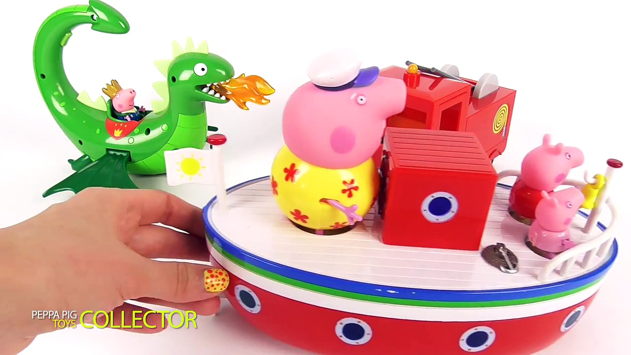 Peppa Pig with George Pig on Grandpa Pigs Holiday Boat