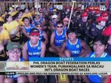 PHL Dragon Boat Federation Perlas Women's Team, pumangalawa sa Macau Int'l Dragon Boat races