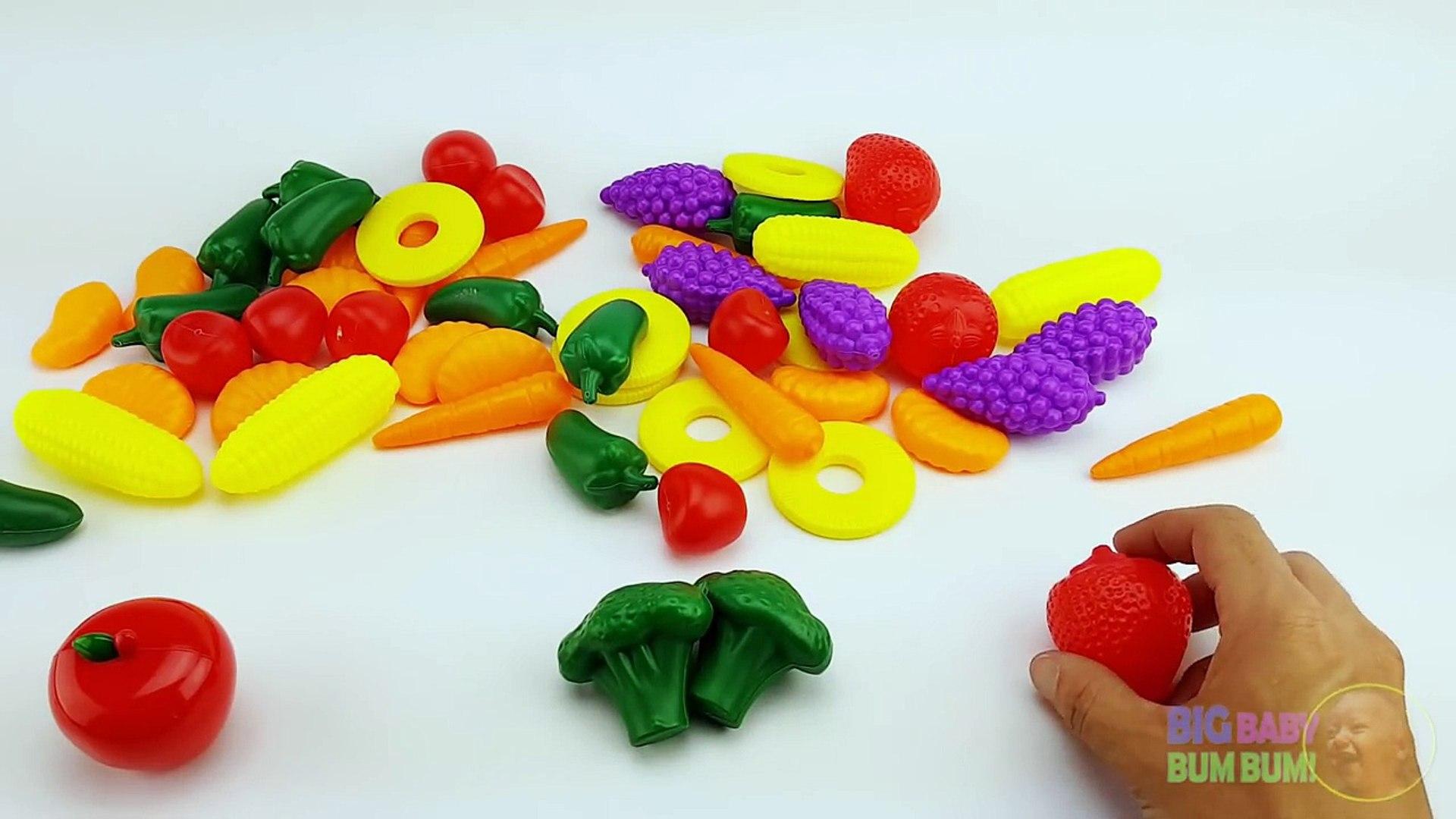 Учимся считать Вт/ фрукты и овощи игрушки дети учатся фрукты овощи Дошкольное обучение