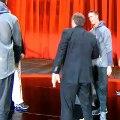WATCH: Bill Belichick Denied A Hug From Dan Quinn At Super Bowl Media Day