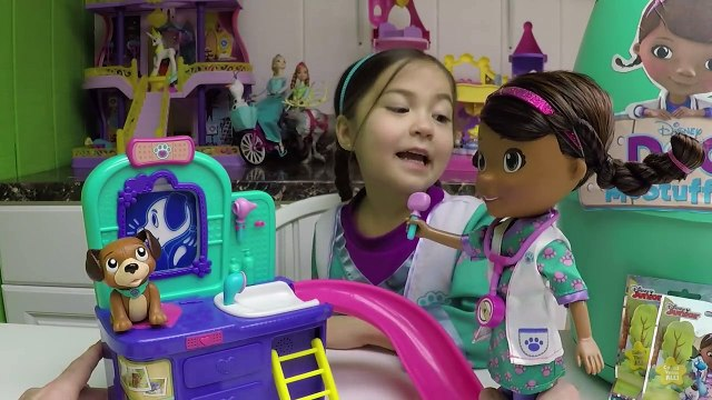 CUTE DOC MCSTUFFINS TALKING DOLL PET VET CLINIC Doc McStuffins Big Surprise Toys Egg Kids Toy Videos