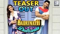 Badrinath Ki Dulhaniya TEASER Out | Alia Bhatt | Varun Dhawan
