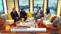 Owen Jones and Piers Morgan clash over anti-Trump protests – video