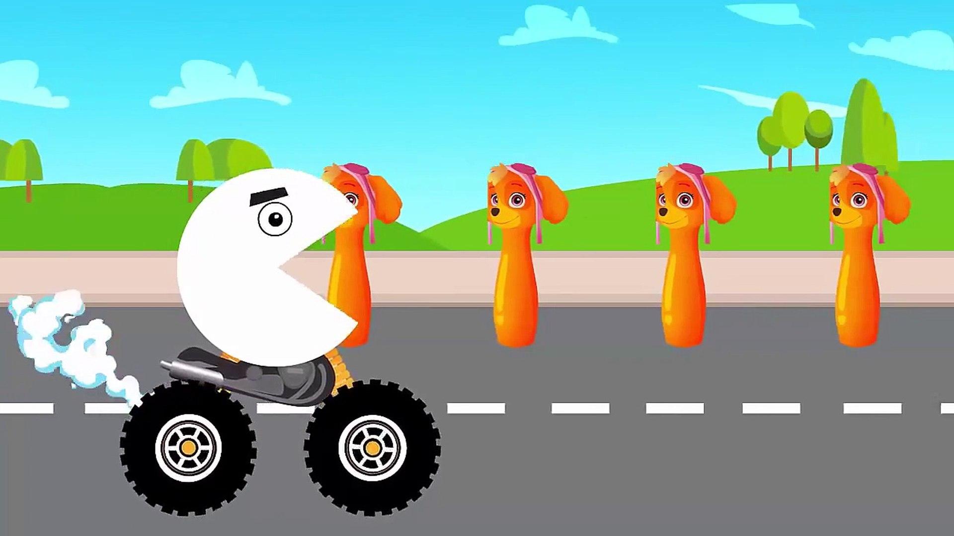 Paw Patrol Цвета для детей, чтобы узнать с Pacman для детей видео обучения Для детей #Funny