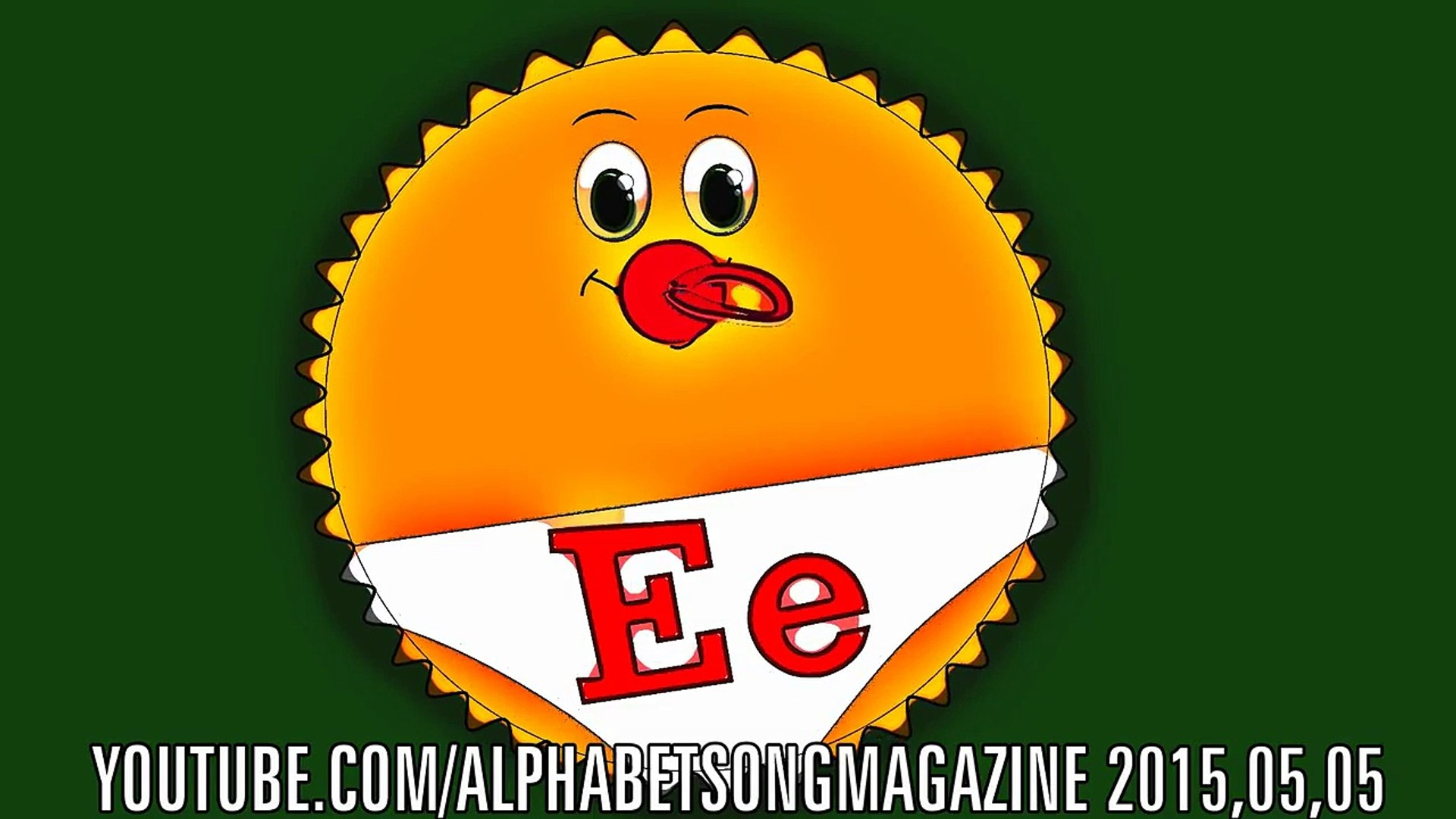 Alphabet Song with Big and Small Letter E to teach and learn ABCs