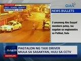 Saksi: Pagtalon ng taxi driver mula sa sasakyan, huli sa CCTV