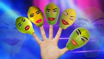Finger Family Nursery Rhymes Papaya Fruit Cartoon | Finger Family Rhymes For Children
