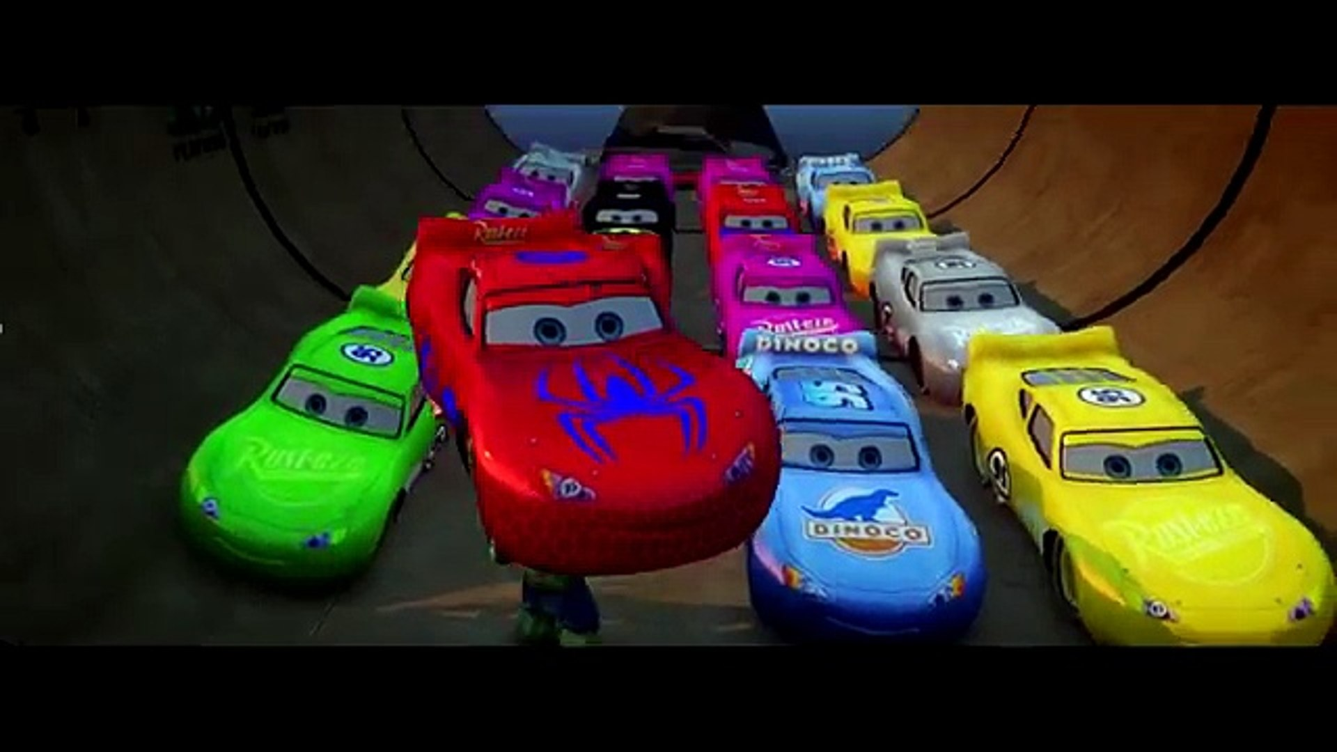 20 MCQUEEN COLORS!!! Pink, Blue, Yellow Disney Pixar #DINOCO Cars smashed by HULK!