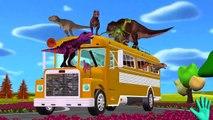 Динозавр Колеса На Автобусе Идут Круглый И Круглые | Динозавры Потешки Для Детей