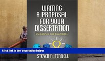 Read Online Writing a Proposal for Your Dissertation: Guidelines and Examples Pre Order