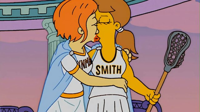 The Simpsons - The Seven Sisters - Smith Kiss Bryn Mawr - Lesbian Kissing