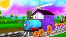 Животные Поезд песни для детей | Мультфильм животных ABC Phonic Песня Для маленьких детей | Детские стишки
