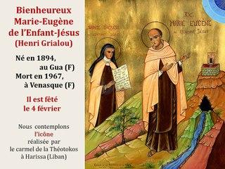 13. Prier avec l'icône de Père Marie-Eugène de l'Enfant-Jésus