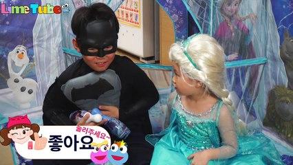 Poisoned Batman? Lime Elsa Frozen Toy Hospital Bad Baby Syringe Costume LimeTube&Toy