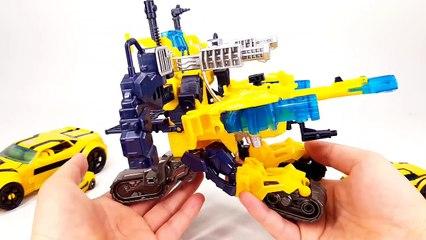 Transformers Prime Cyberverse Bumblebee BattleSuit Weaponizer Deluxe Bumblebee Vehicle Robot Car Toy