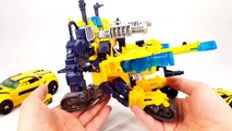 Transformers Prime Cyberverse Bumblebee BattleSuit Weaponizer Deluxe Bumblebee Vehicle Robot Car Toy