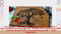 Love Birds Tree Cutting Board  Cutting Boards  Personalized Cutting Board  Family Tree 53eca692