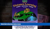 PDF [Download] Barron s Guide to Distance Learning: Degrees, Certificates, Courses (Barrons Guide