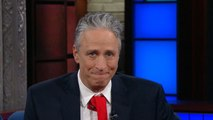 """Jon Stewart accuses Trump of """"purposeful, vindictive chaos"""" in """"Late Show"""" appearance"""