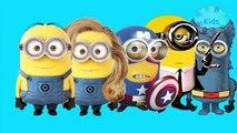 Minion Superheros finger family   3d finger family song for children   nursery rhymes for children