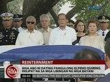 24 Oras: Mga abo ng dating Pangulong Elpidio Quirino, inilipat na sa Libingan ng mga Bayani
