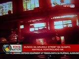 SONA: Sunog sa Alergui Street sa Quiapo, Maynila, kontrolado na