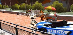 COLORS TALKING TOM & COLORS POLICE CARS LAMBORGHINI PARTY WITH RHYMES FOR KIDS LEARN COLORS