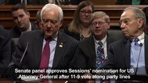 Senate panel votes to confirm Jeff Sessions as Attorney General