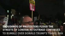 Thousands join London protests against Donald Trump travel ban