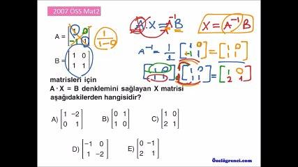 2007 ÖSS Mat2 Soruları ve Çözümleri