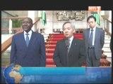 Audience du président de la republique accordée au directeur général des affaires africaines au département des affaires étrangères au Japon