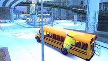 Колеса на автобусе идут круглый и круглые, с песнями Миньоны для детей