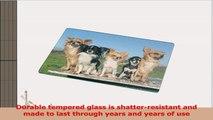Rikki Knight RKLGCB17 Chihuahuas Dog Design Glass Cutting Board Large White e83c6559