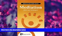 FREE [DOWNLOAD] Mediation Skills and Techniques (Butterworths Skills Series) Laurence Boulle Trial