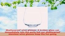 Every Loft Stemless Unbreakable Wine Glass Tritan Plastic BPAFree DishwasherSafe 421009d8