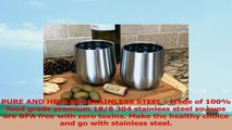 Set of 2 Avito Stainless Steel Stemless Wine Glasses  Double Walled Insulated 11 oz  e6f7558e