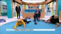 Michel Cymès et Marina Carrère d'Encausse partent en fou rire pendant... une séance de sport ! Vidéo