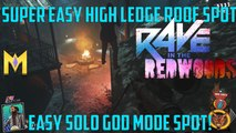 "Rave In The Redwoods Glitches - *EASY* Solo Roof God Mode Glitch Spot - ""High Ledge God Mode Glitch"""