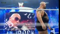WWE II The Rock Saves John Cena From Big Show ( 1000 Raw , Cm punk Heel Turn ) II 2012