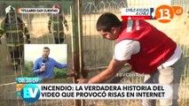 Un homme tente d'aider des pompiers au Chili